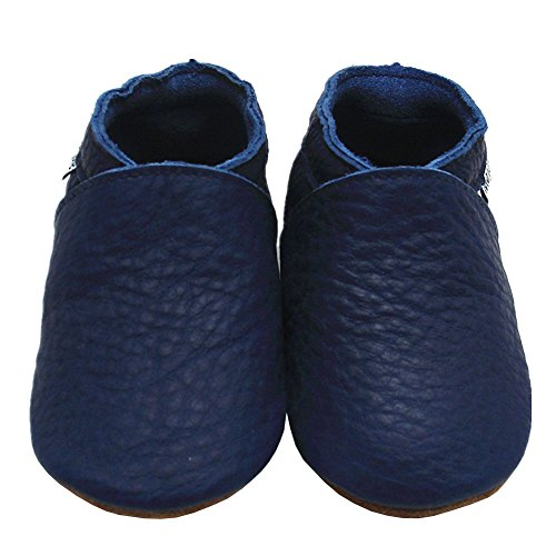 Mejale Baby Boy Shoes Soft Soled Leather Moccasins Anti-skid Infant Toddler Prewalker(navy blue,3-6 months) (Baby Girl Navy Blue Shoes compare prices)
