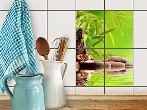 decoration-colore-a-la-mode-sticker-autocollant-carrelage-bricolage-baignoire-design-buddha-zen-15x2