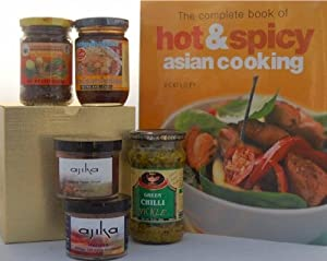 Hot Spicy Cooking From Asian Cuisines Gift For The Cook Chef - Includes Book Spices Chili Pastes by Ajika