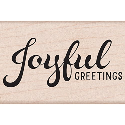 Hero Arts Mounted Rubber Stamps, 2 x 3-Inch, Joyful Greetings