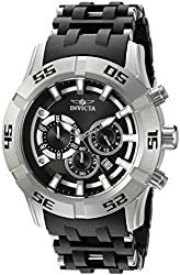 Invicta Men's 'Sea Spider' Quartz Stainless Steel and Polyurethane Casual Watch, Color:Two Tone (Model: 21816)