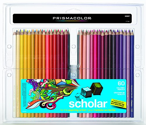 Prismacolor Scholar Colored Pencils, 60-Count