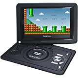 Koolertron 2015 New 10.2 Inch High Quality Portable DVD Player With 180° Swivel - Support Game + USB + SD (10.2 inch, Black)