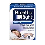 Breathe Right Nasal Strips, Small/Medium, Tan, 30-Count Boxes (Pack of 2) ~ Breathe Right
