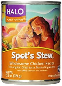 Spot's Stew for Dogs, Wholesome Chicken, 13.2-Ounce, 12-Can