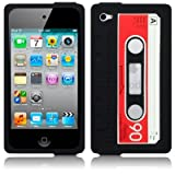 niceEshop Classic Cassette Silicone Case for Apple Ipod Touch 4 4g