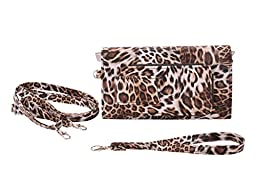Eye Pockit Multi-Purpose Clutch, Glasses Case, RFID Wallet, Phone case combo - Cheetah