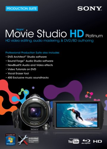 Sony Vegas Movie Studio HD Platinum 10 Suite  [OLD VERSION] (Sony Movie Studio Platinum 10 compare prices)