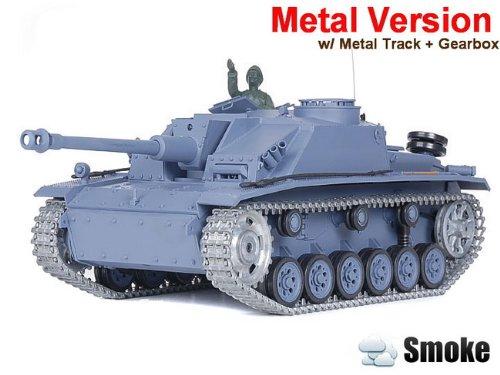 1/16 German Sturmgeschutz III Ausf. G Sd.Kfz.142/1 Infrared Battle Tank Smoke & Sound (Upgrade Version w/ Metal Gear & Tracks)