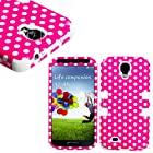 myLife (TM) White - Pink Polka Dot Design (3 Piece Hybrid) Hard and Soft Case for the Samsung Galaxy S4 Fits Models: I9500, I9505, SPH-L720, Galaxy S IV, SGH-I337, SCH-I545, SGH-M919, SCH-R970 and Galaxy S4 LTE-A Touch Phone (Fitted Front and Back Solid Cover Case + Internal Silicone Gel Rubberized Tough Armor Skin + Lifetime Warranty + Sealed Inside myLife Authorized Packaging) ADDITIONAL DETAILS: This three layer Galaxy S4 armor skin gel fit together case is made of grip easy smooth silicone and hardshell plates that slide in to your pocket easily yet won't slip out of your hand