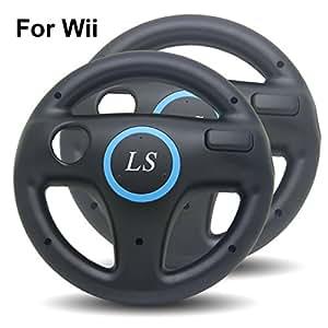 ls 2x lenkrad racing wheel f r nintendo wii schwarz. Black Bedroom Furniture Sets. Home Design Ideas