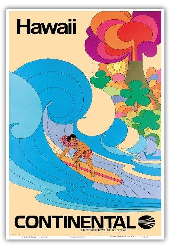 hawaii-continental-airlines-hawaiian-surfer-psychedelic-flower-power-art-vintage-hawaiian-travel-pos
