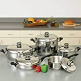 HealthSmart 10 Piece Element Cookware with Thermo Control Knobs