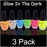 3 Pack Of Glow In The Dark Nail Polish