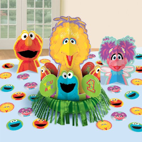 Sesame Street 1st Birthday - Centerpiece - 1