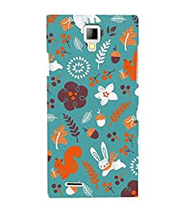 Rabbit Flowers Grass 3D Hard Polycarbonate Designer Back Case Cover for Micromax Canvas Xpress A99