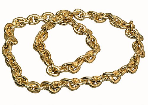 "40"" Gold Chain Beads Necklace"