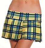Pleated Skirt (Yellow Plaid;Medium/Large)