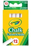 Crayola Anti Dust White Chalk x12 Packs
