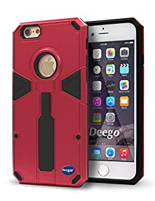 buy Iphone 6S Plus 5.5 Inch Case ,Nancy'S Shop Iphone 6 Plus Ring Kick Stand Feature Ultra Thin Slim Fit Full Body Rugged Heavy Duty Series Hybrid Armor Shock-Absorption Defender Shield Bumper (Red)