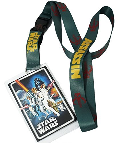 Star Wars Mandalorian Boba Fett Lanyard, Assorted Colors - 1