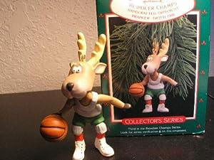 1988 Hallmark Keepsake QX405-1 'Reindeer Champs - Prancer' Basketball Ornament