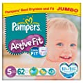 Pampers Active Fit Size 5 (11-25kg) Jumbo Pack�62 per pack