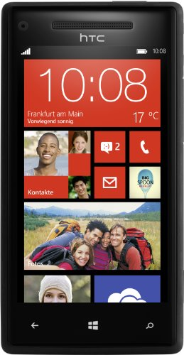 HTC Windows Phone 8X Smartphone, Super LCD Touchscreen, 1,5 GHz Dual-Core, 1 GB RAM, 8 Megapixel, 16 GB - Nero