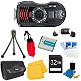 WG-4 GPS 16MP HD 1080p Waterproof Digital Camera Black 32GB Kit Includes camera, 32GB SD Memory Card, Carry Case, Floating Wrist Strap, Battery, Card Reader, Mini Tripod, and More!