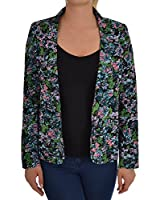 Miss Posh Womens Floral Button Lightweight Tailored Casual Blazer Jacket