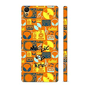 Enthopia Designer Hardshell Case Music if Life Back Cover for Sony Xperia C6