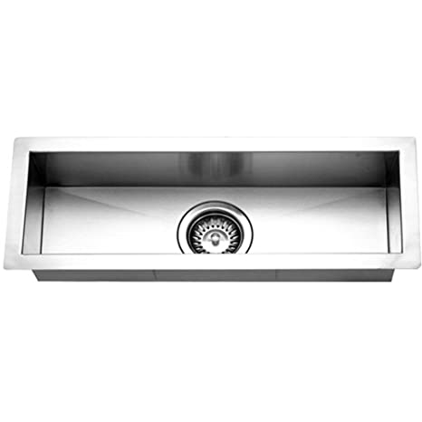 Houzer CTB-2385 Contempo Trough Series Undermount Stainless Steel Bar/Prep Sink