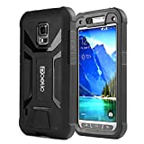 Poetic Samsung Galaxy S5 Active Case [REVOLUTION Series] - Rugged Hybrid Case with Built-in Screen Protector for Samsung Galaxy S5 Active (SM-G870A) Black (3-Year Manufacturer Warranty from Poetic)