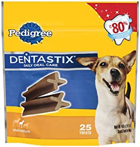 Pedigree Dentastix Oral Care Treats for Dogs, Small, 14.1-Ounce (Pack of 2)