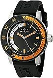 Invicta Men's 12848 Specialty Black Dial Watch with Orange/Black Bezel