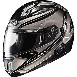 HJC Zader Men's CL-MAX II Bluetooth Full Face Motorcycle Helmet - MC-5 / Small
