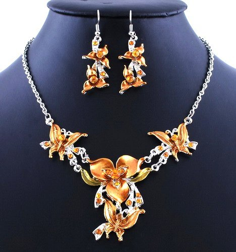 Fashion Lady Wedding Party Alloy Acrylic Necklace Earring sets Style4