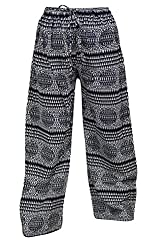 Indiatrendzs Women Pant Printed Rayon Black Evening Wear Yoga Harem Pants