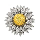 Lovely Sunflower C.Z. Silver Pendant (Nice Gift, Special Sale)