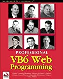 img - for Professional Visual Basic 6 Web Programming by Paul Wilton (1999-04-04) book / textbook / text book
