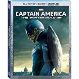 Captain America: The Winter Soldier - Exclusive Captain America Sleeve (Blu-Ray 3D + Blu Ray + Digital HD Digital Copy)