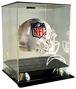 NFL San Diego Chargers Floating Mini Helmet Display Case by Caseworks