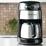 KitchenAid KCM223 12-Cup Thermal Coffeemaker Appliances Cookware - Silver