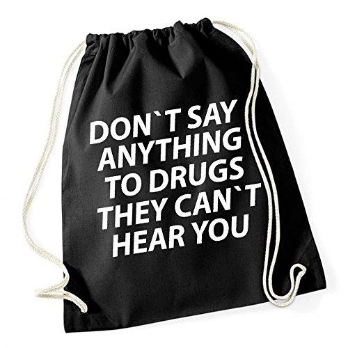 Don`t Say Anything To Drugs Borsa De Gym Nero Certified Freak