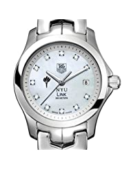 NYU TAG Heuer Watch - Women's Link with Mother of Pearl Diamond Dial