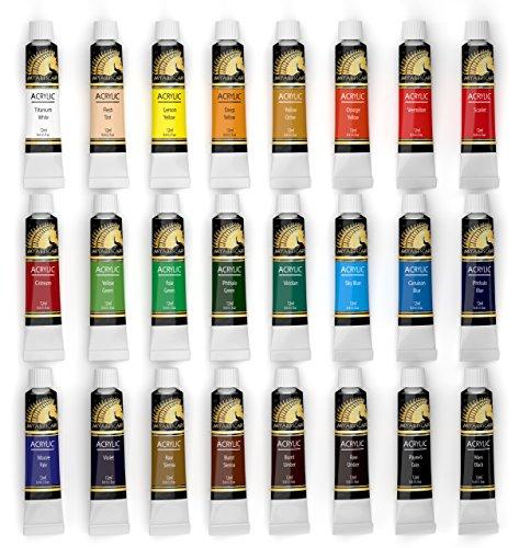 Acrylic Paint Set 24 X 12ml Art Paints Artist