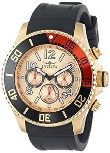 Men's Pro Diver Chronograph Gold Tone Dial Black Polyurethane