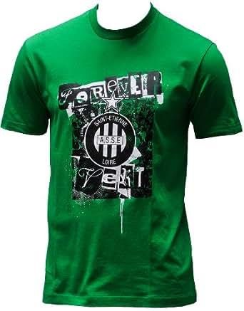 T-shirt ASSE - Collection officielle AS SAINT ETIENNE - Football club Ligue 1 - Taille adulte Homme S