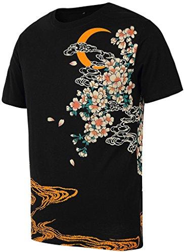 pizoff-mens-t-shirt-japanese-pattern-warura-oraora-system-koi-embroidery-carp-climbing-musterstrasse