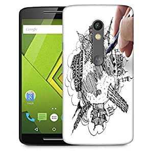 Snoogg Hand Drawing The Dream Travel Around The World Designer Protective Phone Back Case Cover For Moto G 3rd Generation